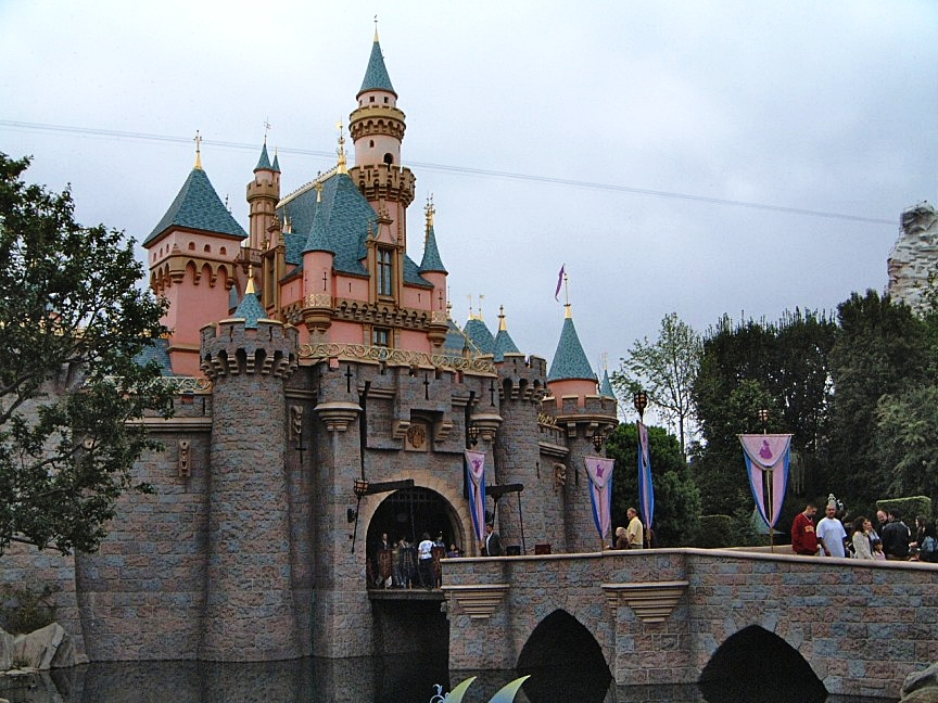 Use of 'forced perspective' on Sleeping Beauty's castle