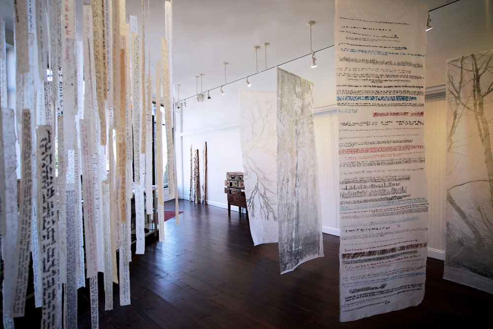 Participants' handwritten memories are used in sculpture and installation.