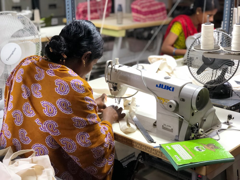 We send our products in reusable cosmetic bags that are handmade with organic cotton, instead of boxes. We are proud to support Freeset, a fair-trade business offering employment to women who are trapped in the Kolkata's sex trade. By giving these women a job making products they are no longer subjected to working in the sex trade in India.To learn more about their mission visit FreesetGlobal.comOur product cards are made with 100% cotton that comes from the leftover waste fabric from the production of t-shirts. We strive to make everything as eco friendly as possible and give back to the community. -