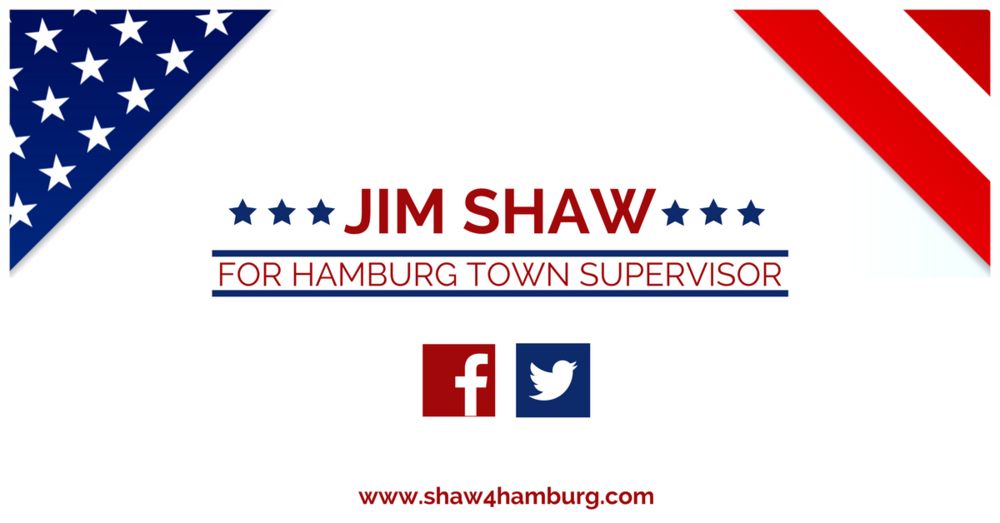 Jim Shaw for Hamburg Town Supervisor Bumper Sticker