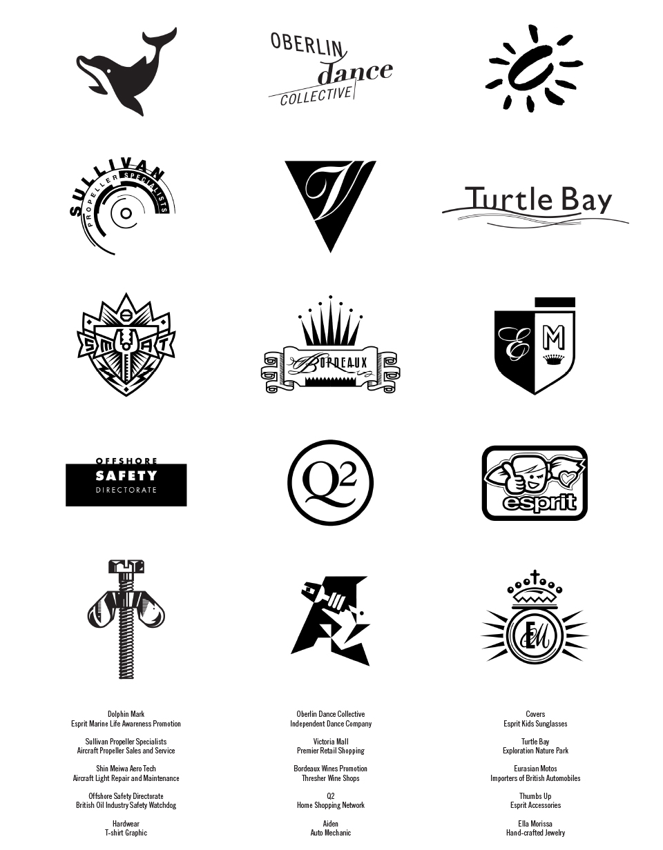 Select logos from my over 25 years of work as a professional designer.