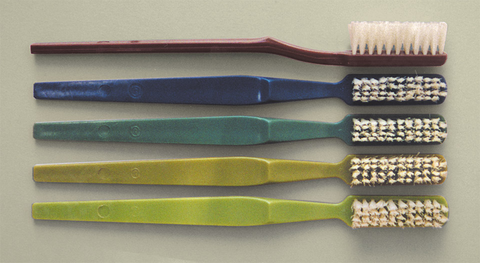 The only toothbrushes available at the central department store in Prague in 1991