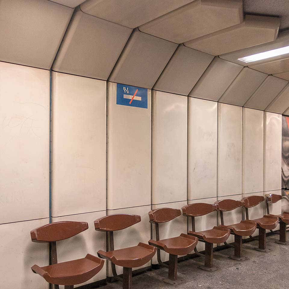 Dózsa György út station, on Budapest's Metro 3 line, began serving non-smoking passengers on November 5, 1984.