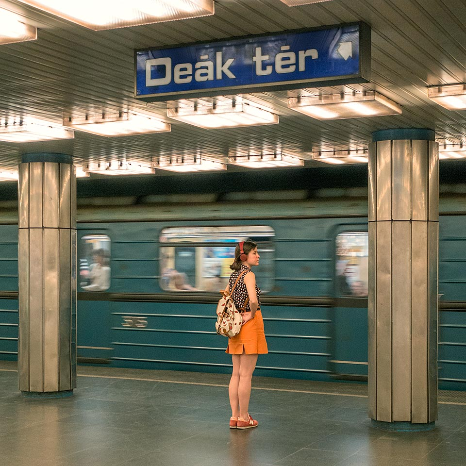 I love that Budapest's M3 line feels more like a retro/indie/sci-fi film set than an integral part of the public transit system of one of Europe's largest cities.