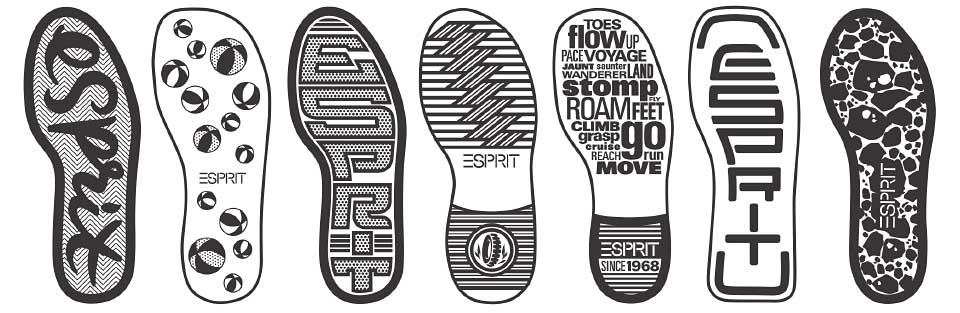 Esprit Footwear outsole designs