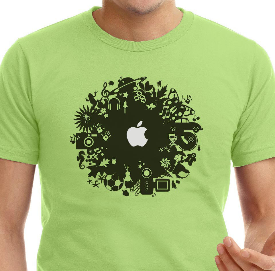 Design for Apple iLife retail channel giveaway t-shirt