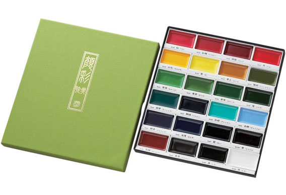 5A: Zig Kuretake Gansai Tambi 24-Color Painting Set - Beautiful rich color. I love this set.