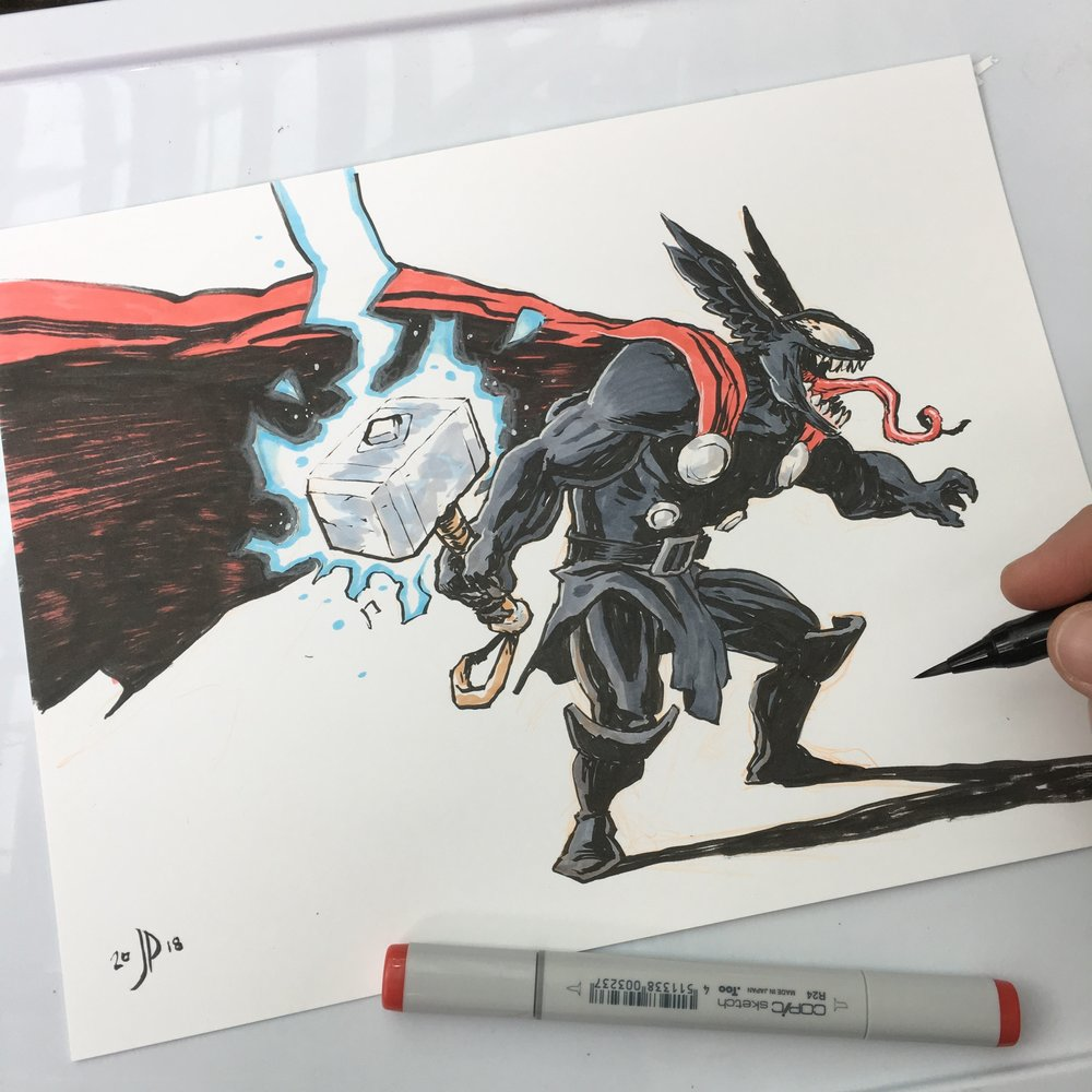 Venom-Thor! I thought this was a pretty creative idea this guy had me do.