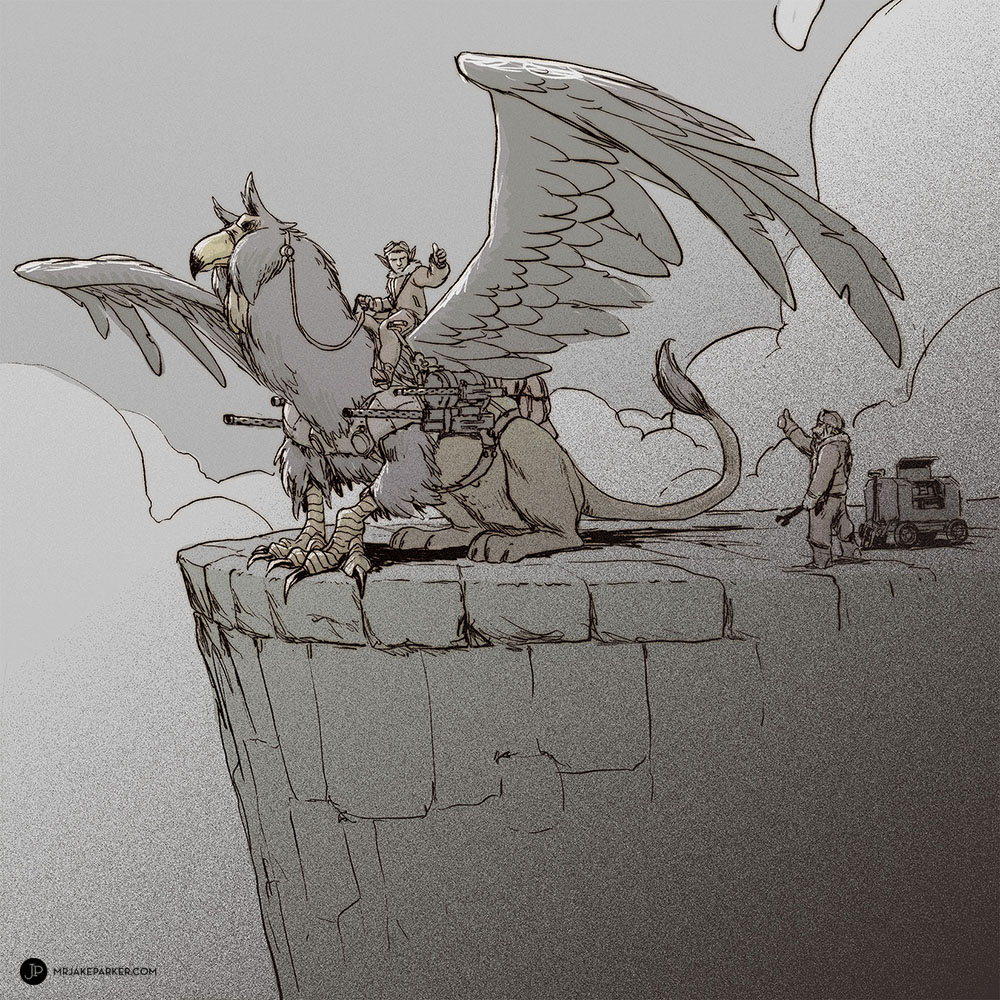 Ilustración de Jake Parker