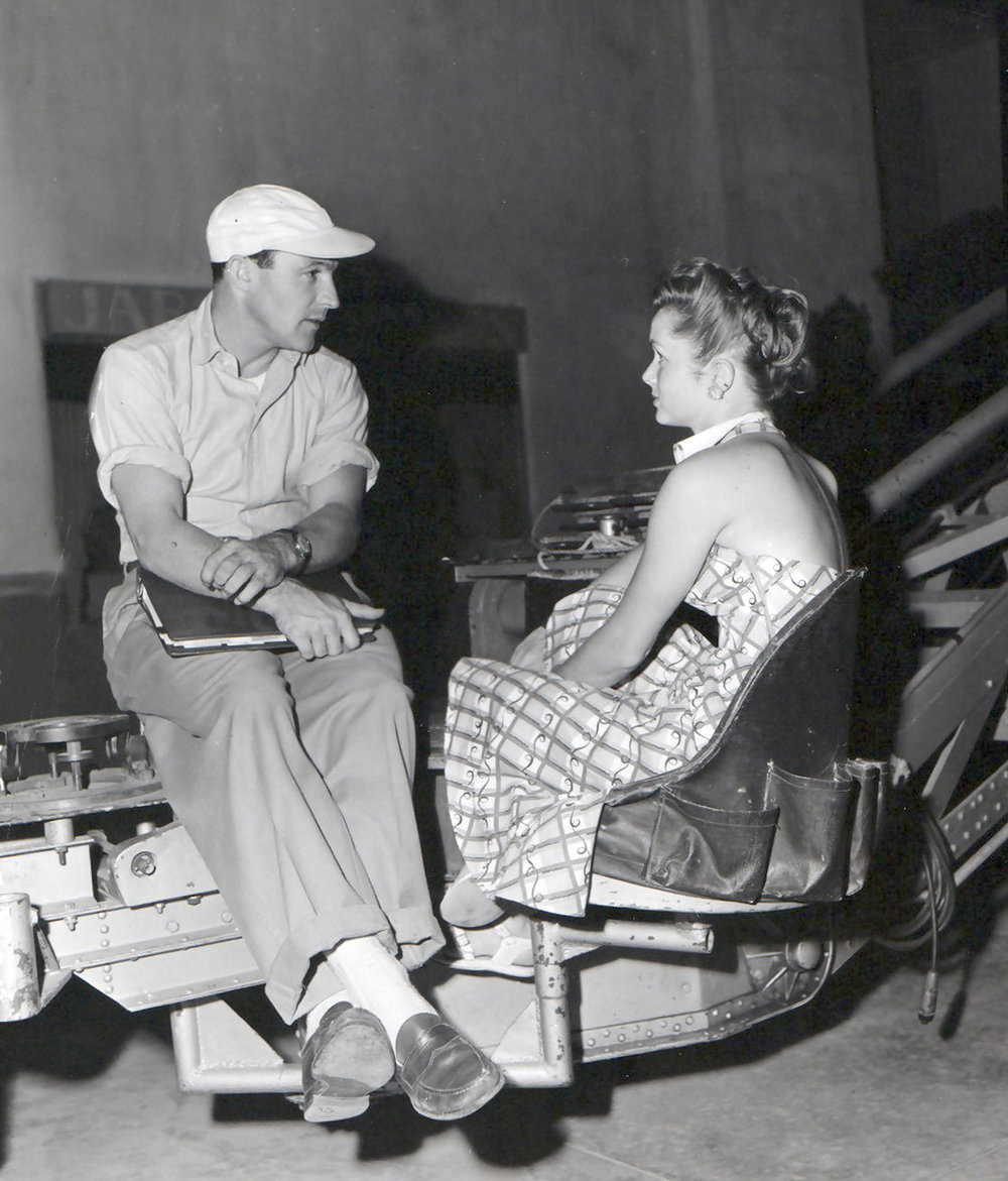 "GENE KELLY AND DEBBIE ON THE SET OF ""SINGIN' IN THE RAIN"""