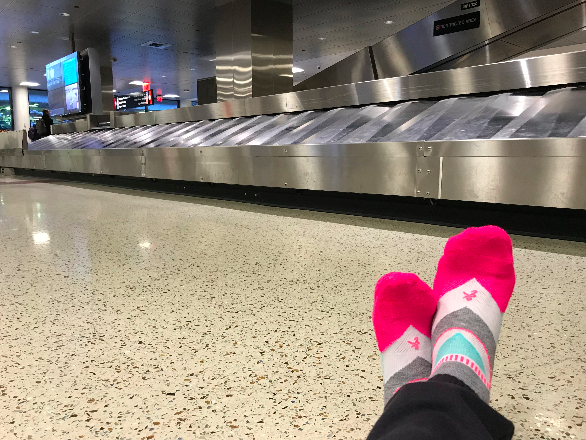 """FIT Founder Kelly wears her favorite   Balega   running socks while traveling, too! """"I took a super last minute trip to Australia. I booked my flight on Friday, left Tuesday, arrived Thursday, and I was home within the week. I just used a backpack. The adventure is the spontaneity, at times, so sometimes just go!"""""""