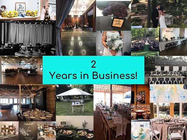 Celebrating 2 wonderful years in business! Looking forward to many more to come!  #weddingplanner #ncweddingplanner #weddingplanning #weddings #ncweddings #weddingdecor #weddingdesign #bride #groom #weddingday #eventplanner