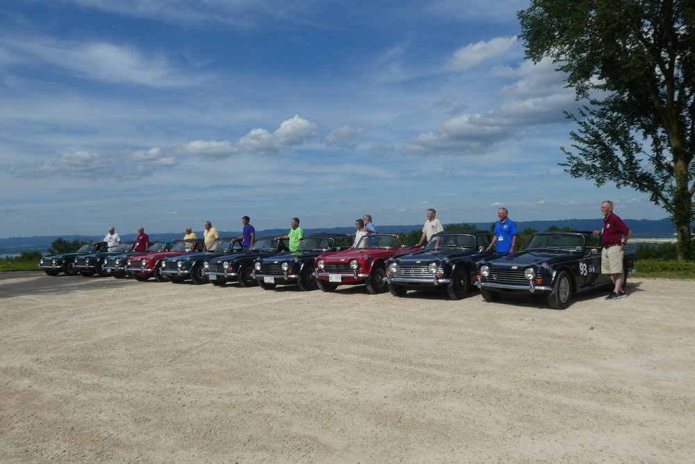 TR250 Photo shoot, over looking the Mississippi River. Ten there, about sixteen total at the convention. The TR250 was the featured model.
