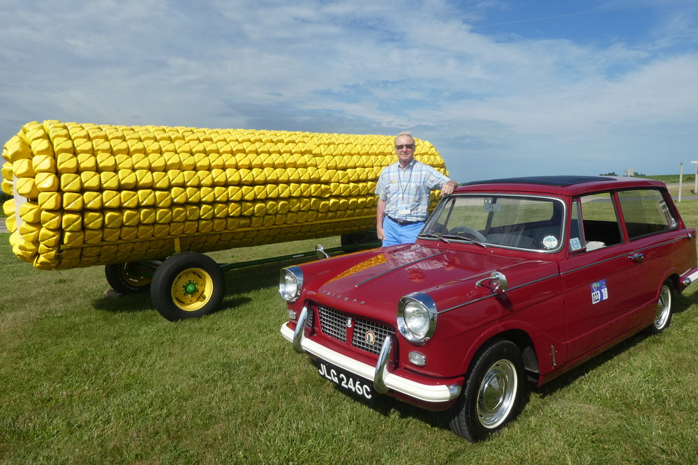 "A Triumph Herald Estate ""corny"" photo. Steve Oertwig from the Capital Triumph Register."
