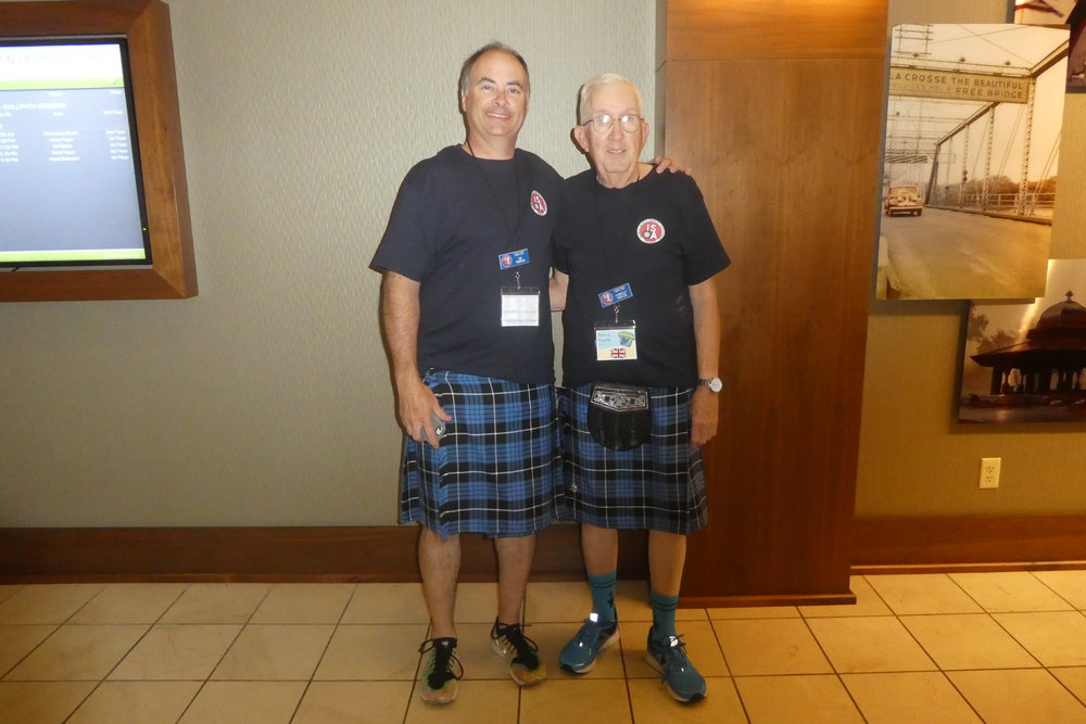 Father and son that had a TR3. They ran all the events, including the Autocross. Wore the kilts with their clan colors everyday.