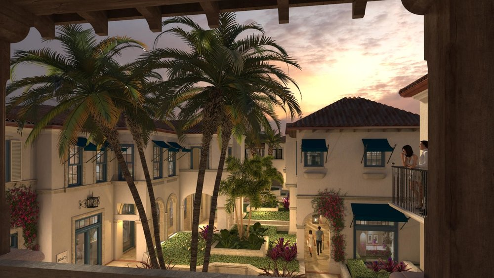 A view from the second story balcony in one of Royal Poinciana Palm Beach's luxury residences