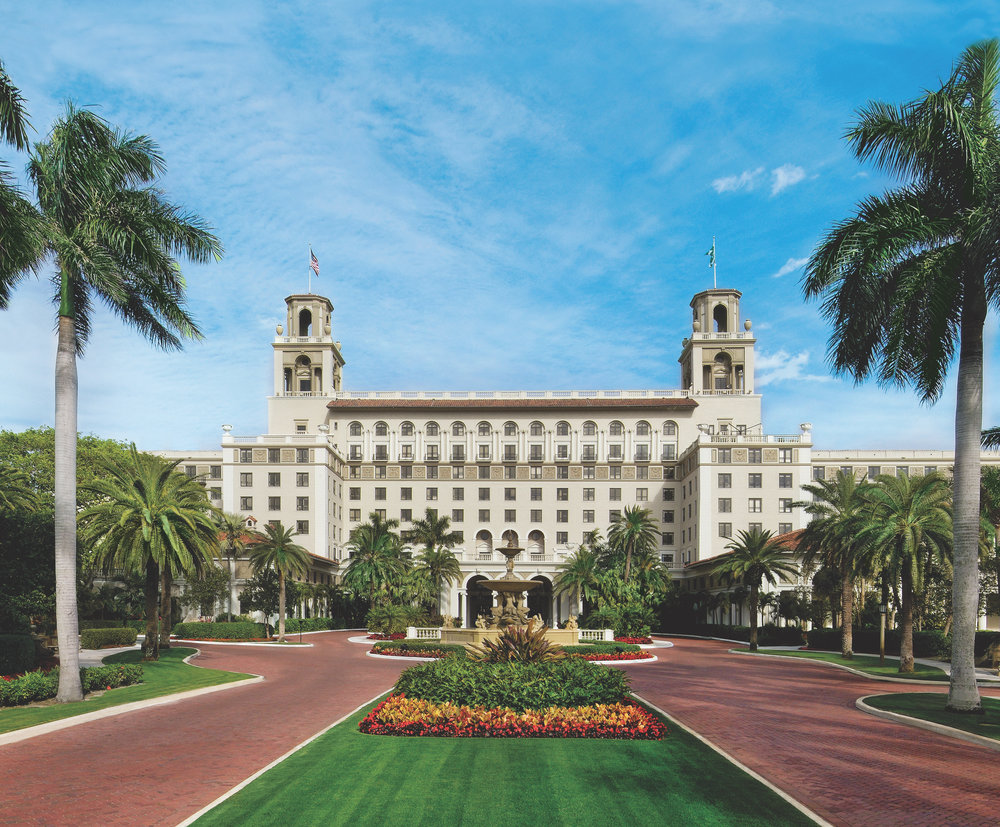 The Breakers' palm tree-lined Main Drive offers guests a truly special arrival experience