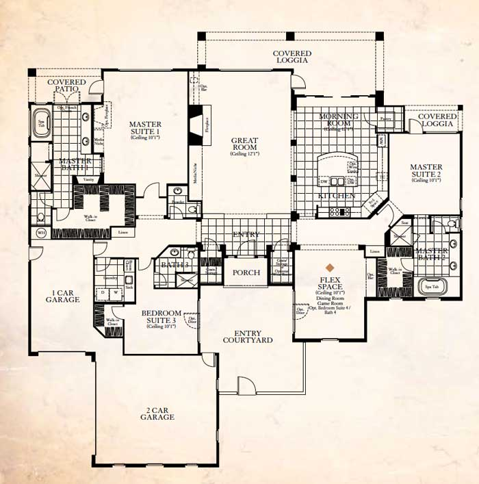 Stonefield Estates Indio Spanish Colonial Plan-2 Floor Plan