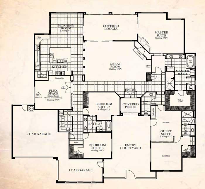 Stonefield Estates Indio CA Andalusian Plan-3 Floor Plan
