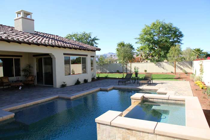 Plan-3 home pool/spa at Stonefield Estates Indio California