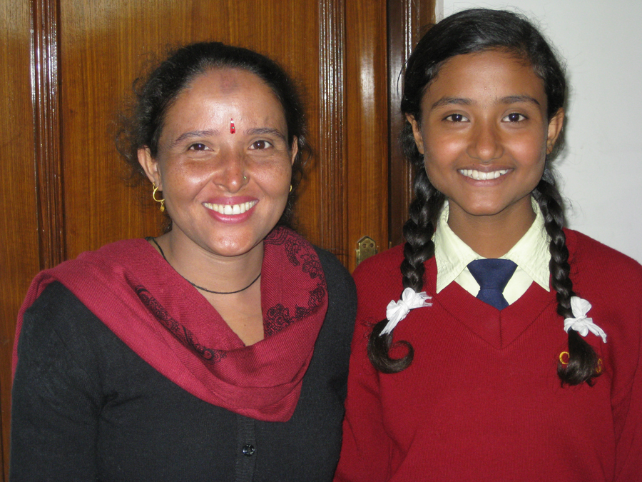 Biddhya and mom meet to discuss her successes and challenges.