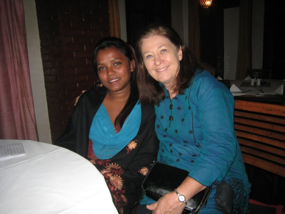 Ishwori and Nancy when Nancy visited Kathmandu.