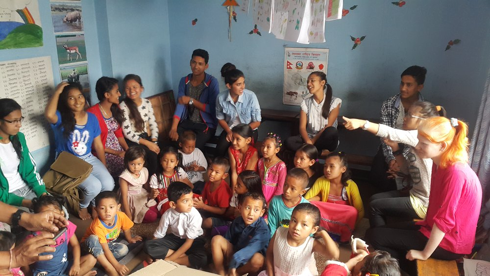 Our recent SEE/SLC graduates visit our Contact Center children to share stories.