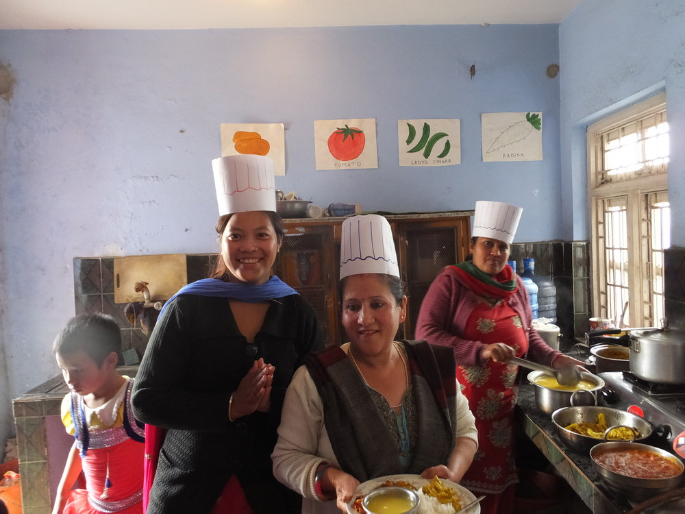 Cooks at the Center prepare a nourishing meal.