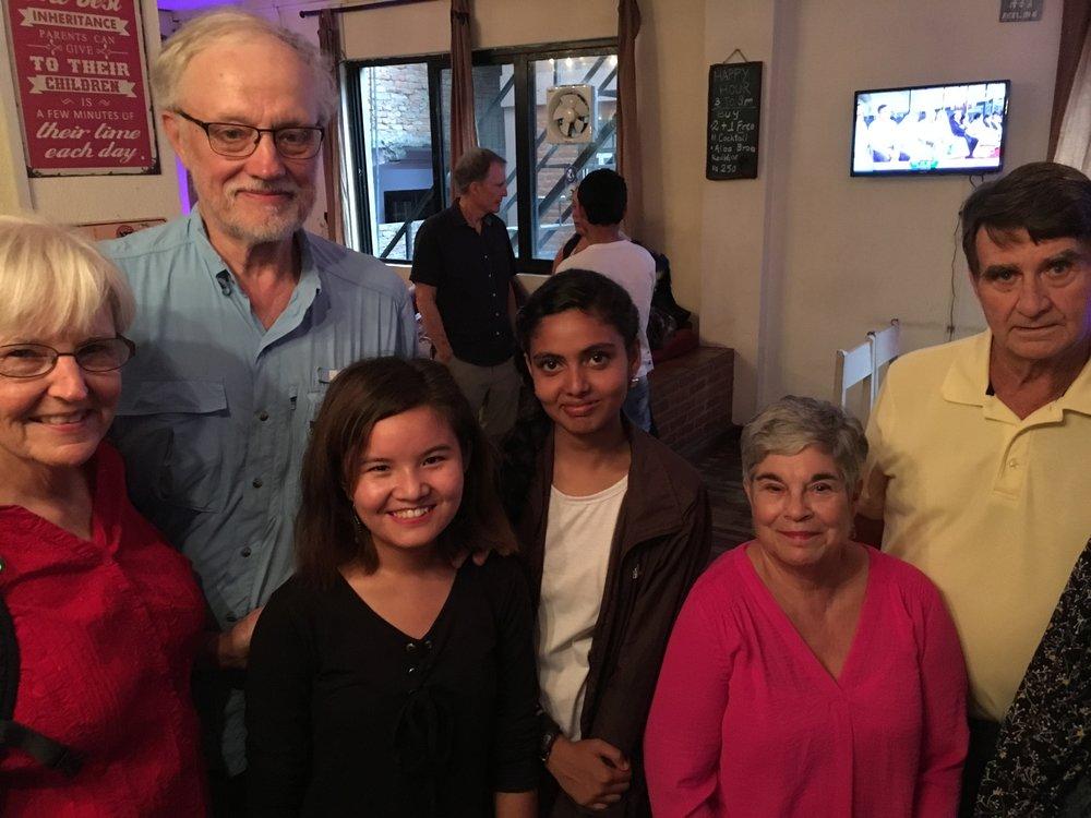 Cheryl, Don, Yanji, Biddhya, Arlene and Hewie