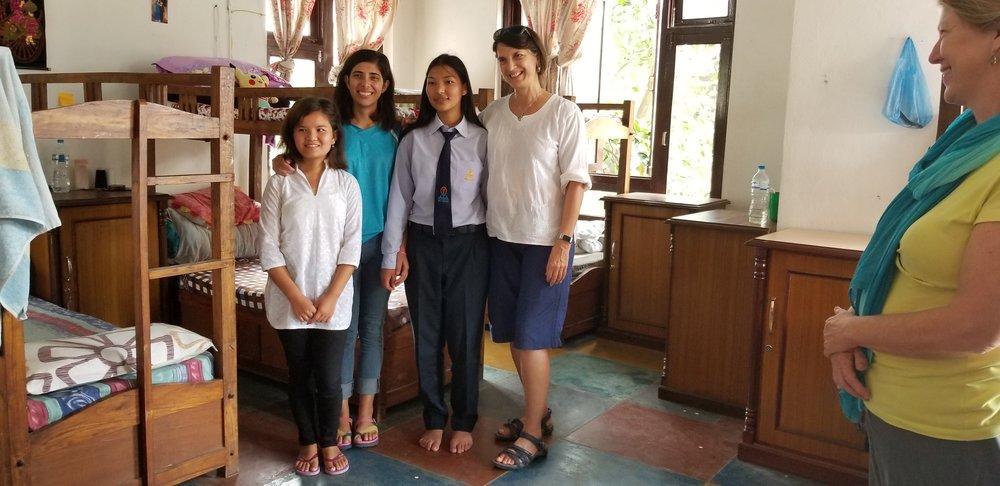 Yanji, Swosthani, Bhawana and Christine