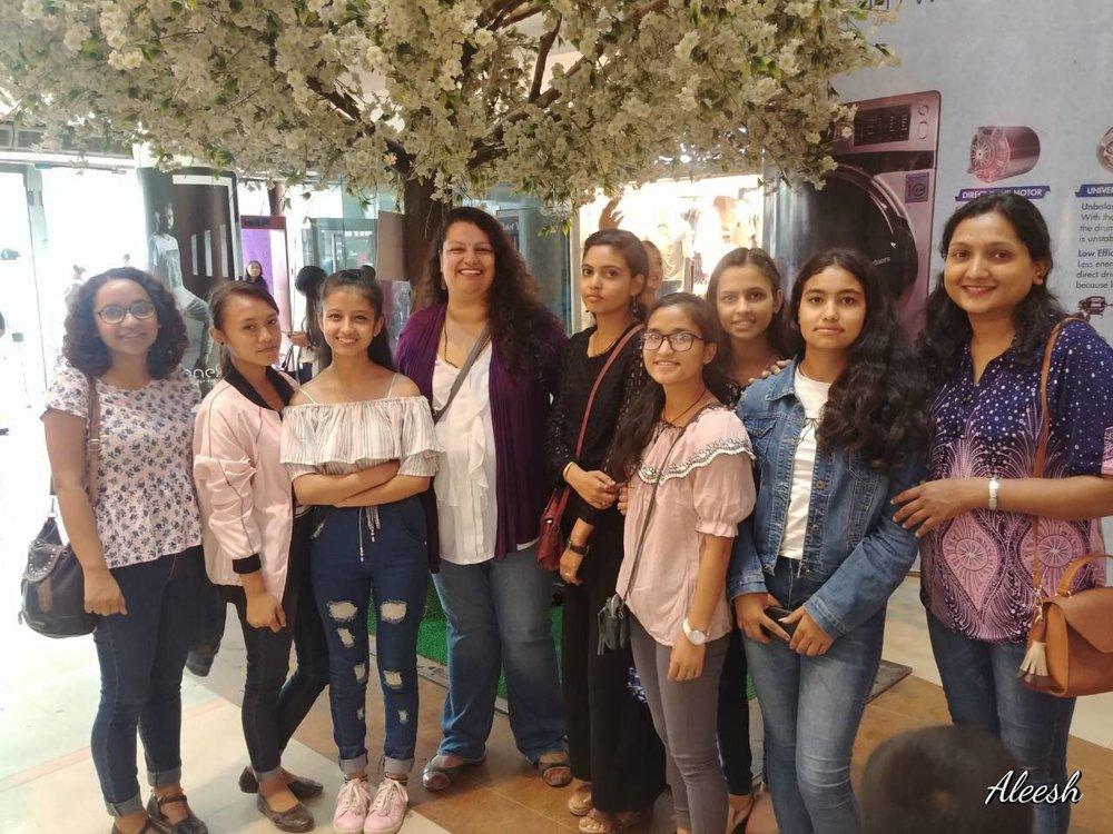 Susmita, Leena and Bimala of BSF with the girls in Kathmandu