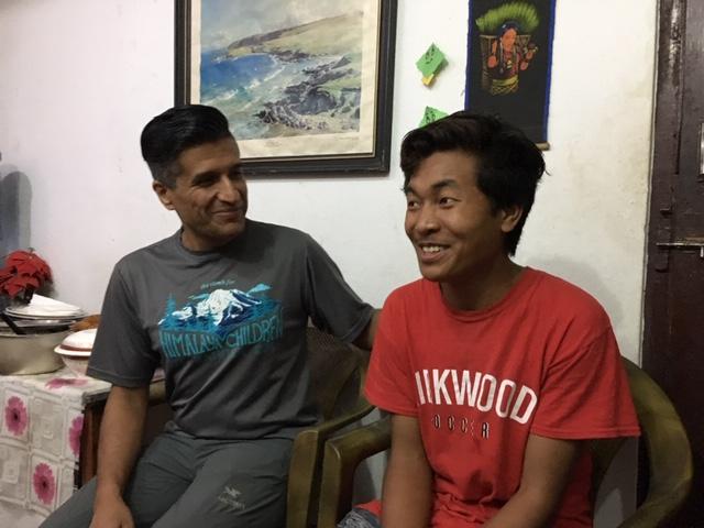 L ro R Yogesh and Pasang