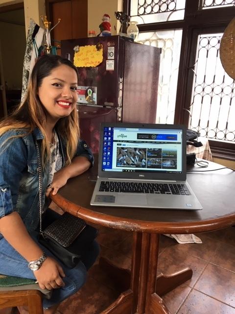 Graduate Mamta shows her new website