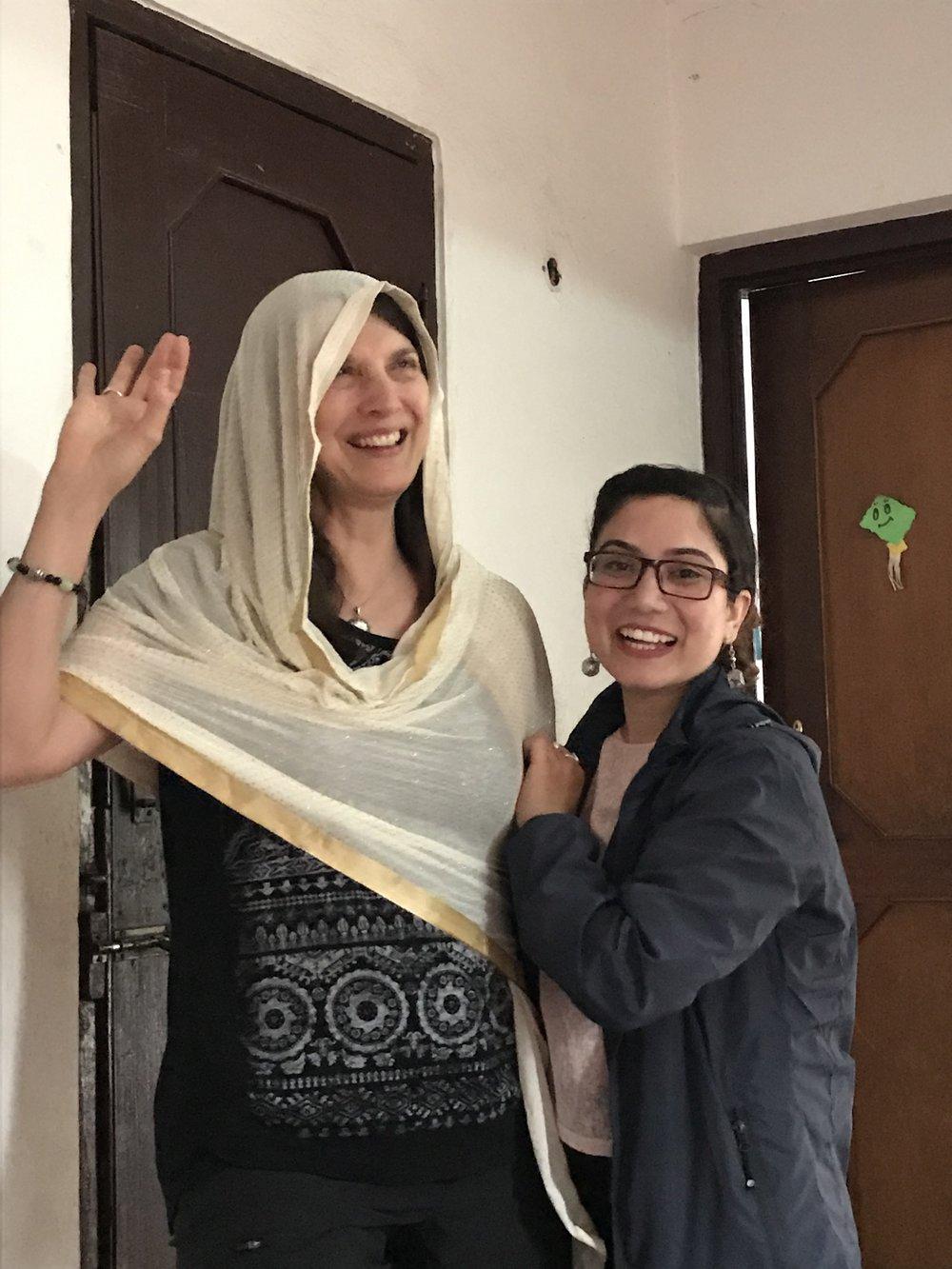Christine and soon to graduate: Rekha