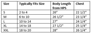 zosia active wear Flowy Long Sleeve Tee Size Chart