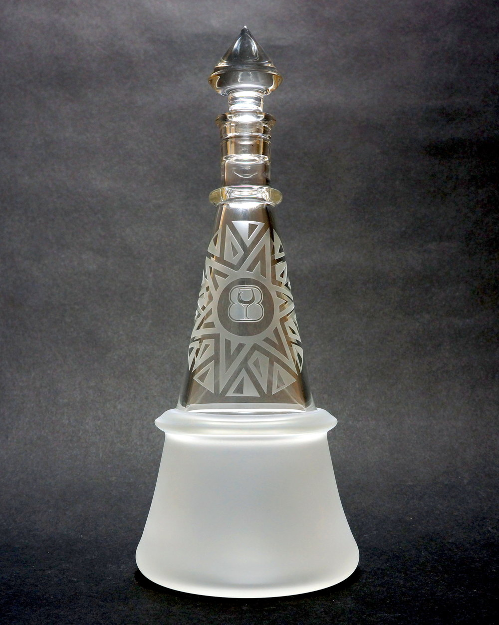 "Ringed ""Spike"" Liquor bottle"