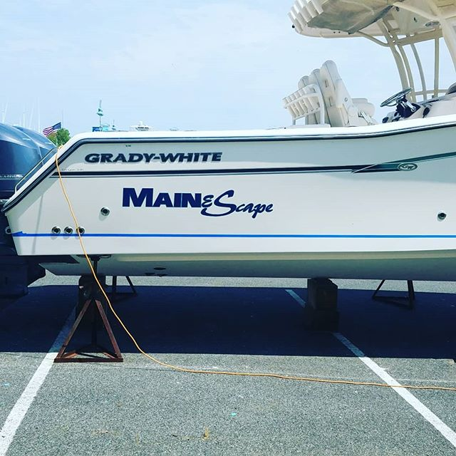 Lettering isnt just for cars #boatlettering #signs #damascusmd #damascussigns