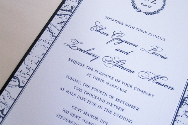 Two Beautiful Wedding Invitations For Those Gorgeous Eastern Shore Weddings.