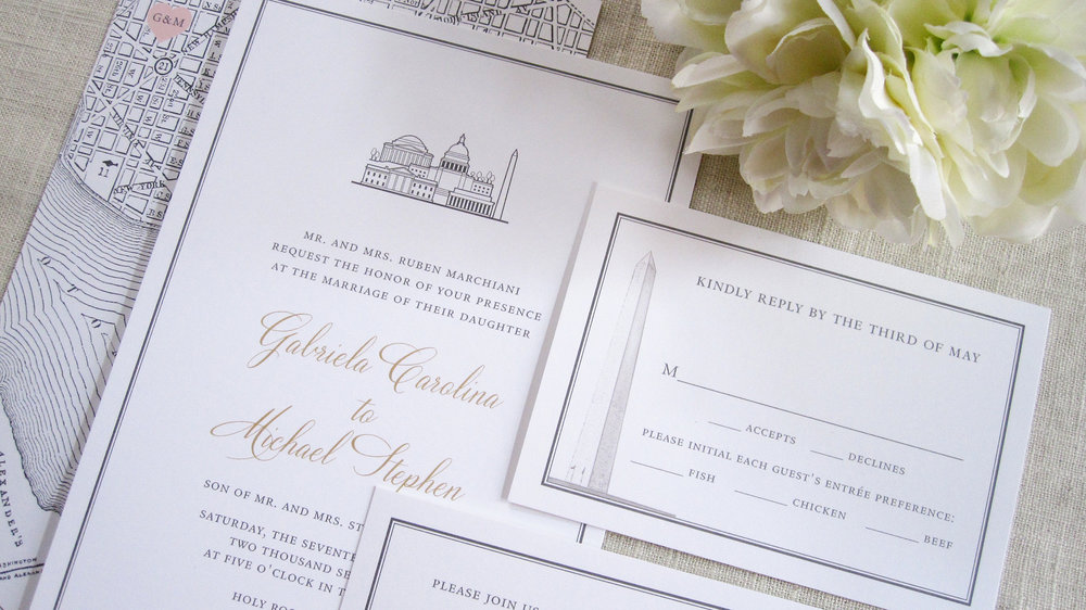 dc wedding invitations - Paper For Wedding Invitations