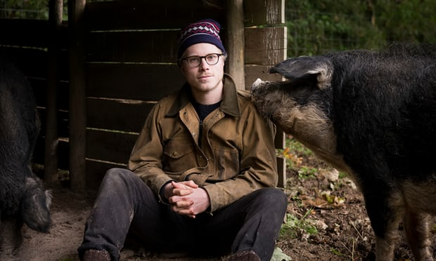 Chef Tom Adams at Coombeshead Farm. Photograph: Harry Borden for the Observer