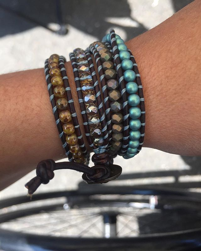 Love my new bracelet.  Picked this up at the alameda art & wine festival.  @suzysbeads is great!