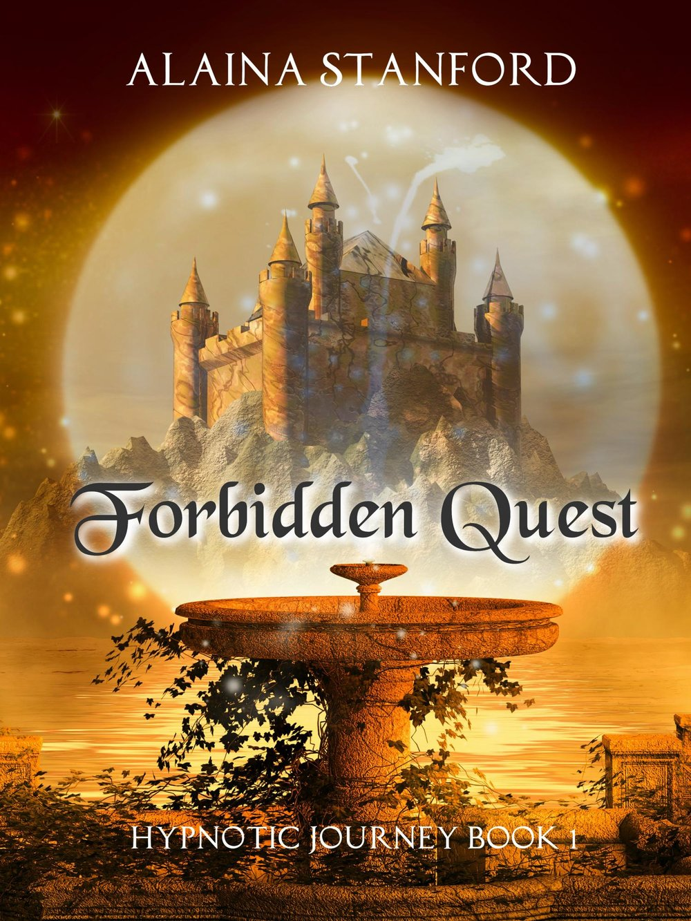 Forbidden Quest, Book 1  An intense Fantasy Adventure Series!   Roleplay at its best...sure, it's all fun and games until someone gets their arm cut off.   Wouldn't it be cool to suddenly have the battle skills of a seasoned warrior? What if the battles felt real, but there was no physical risk to you? That would be perfect, except for one thing. The hypnotist in charge of your session is insanely evil, and is using you as a weapon in a plot for revenge. Four friends—two in love, two in hate—enter into a group hypnosis study attempting to introduce realistic fantasy adventures to small groups. Expecting a video game-type of adventure as fantasy characters, they begin their journey to rescue an Elf Queen from a crystalline prison. Yet, as soon as they fall under the hypnotist's spell, everything goes wrong. Suddenly the adventure becomes more real than they could ever have imagined. Soon our small group of adventurers finds themselves in a hostile world with no escape...