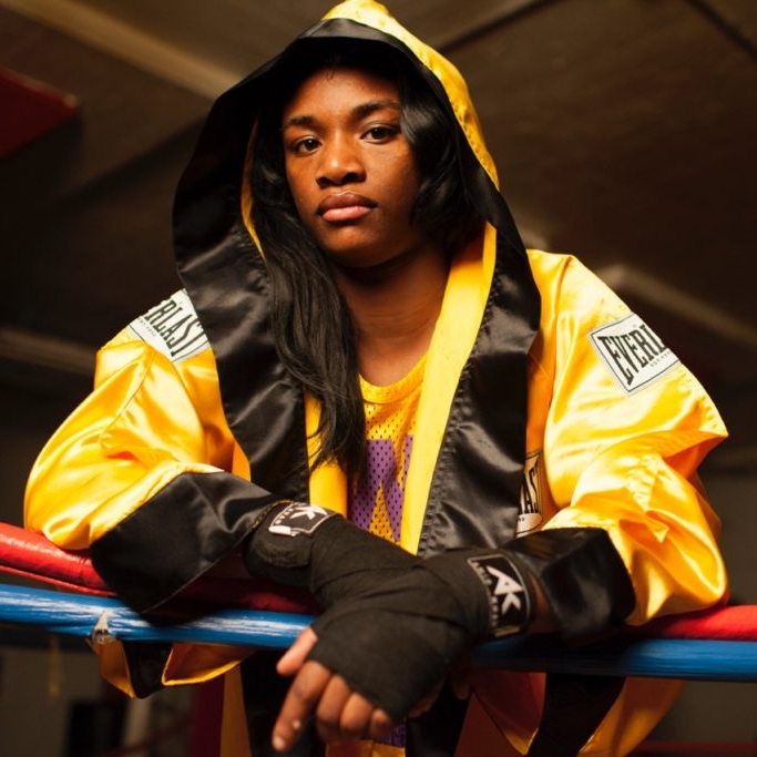 Claressa Shields on Ropes
