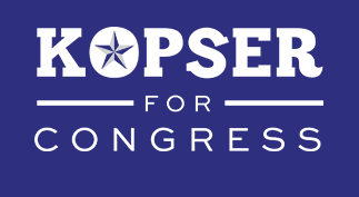 Clickthrough to be redirected to Kopser for Congress
