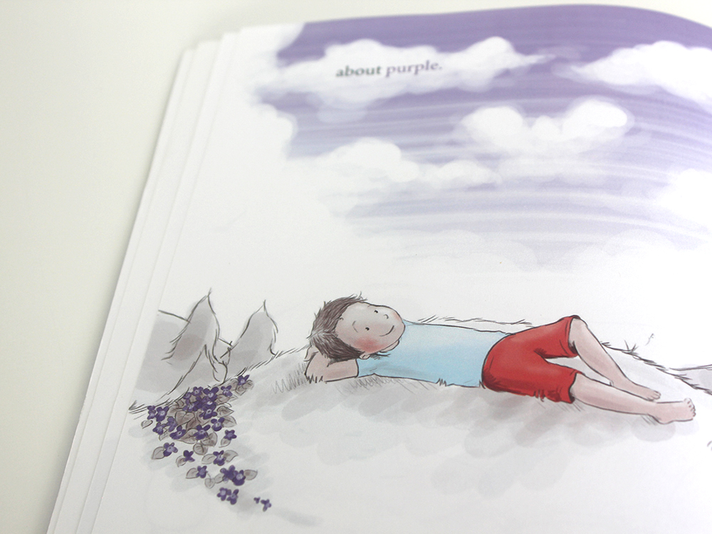 The Boy Who Could See Purple Illustration Children's Books