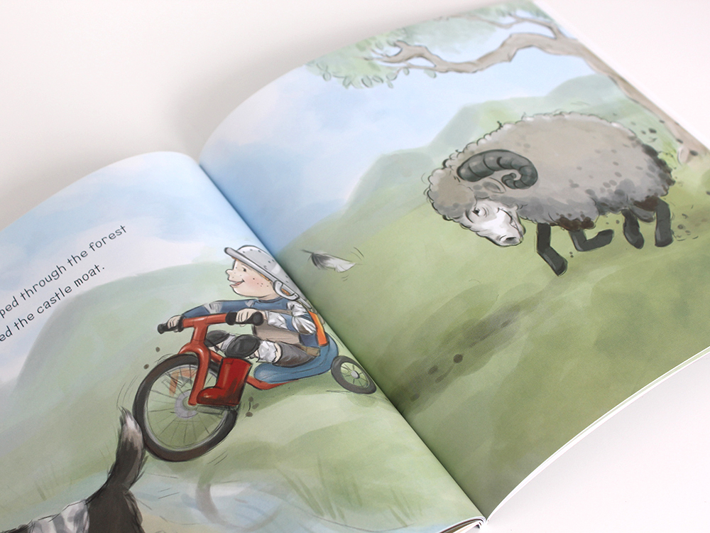 Fearless Fred and the Dragon Illustration Children's Books