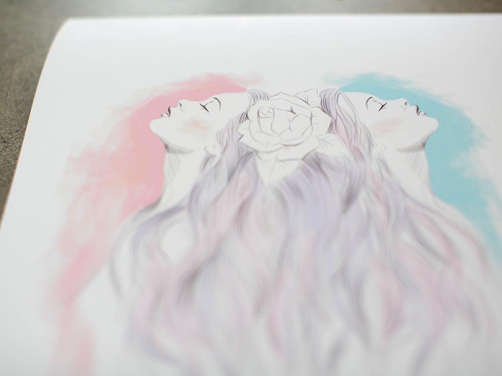 Sisters Kat Merewether 2013 Print Series Illustration Art
