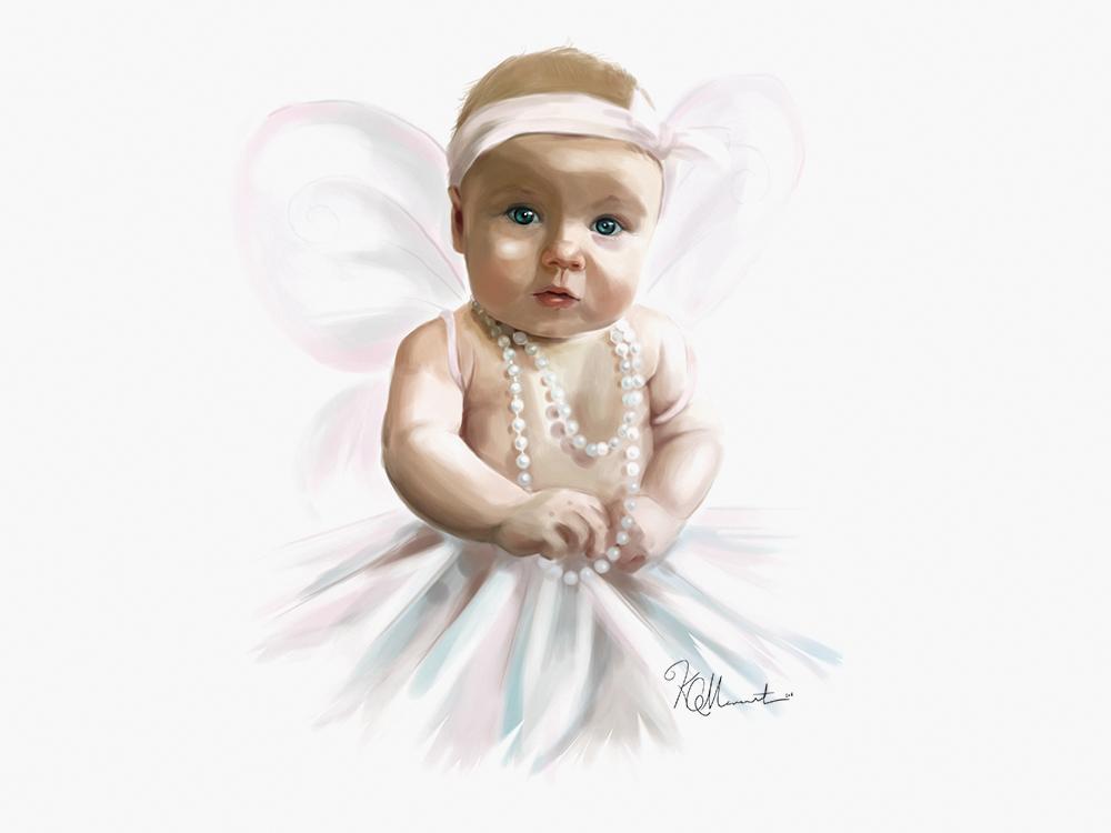 Baby Portrait Kat Merewether Illustration Art