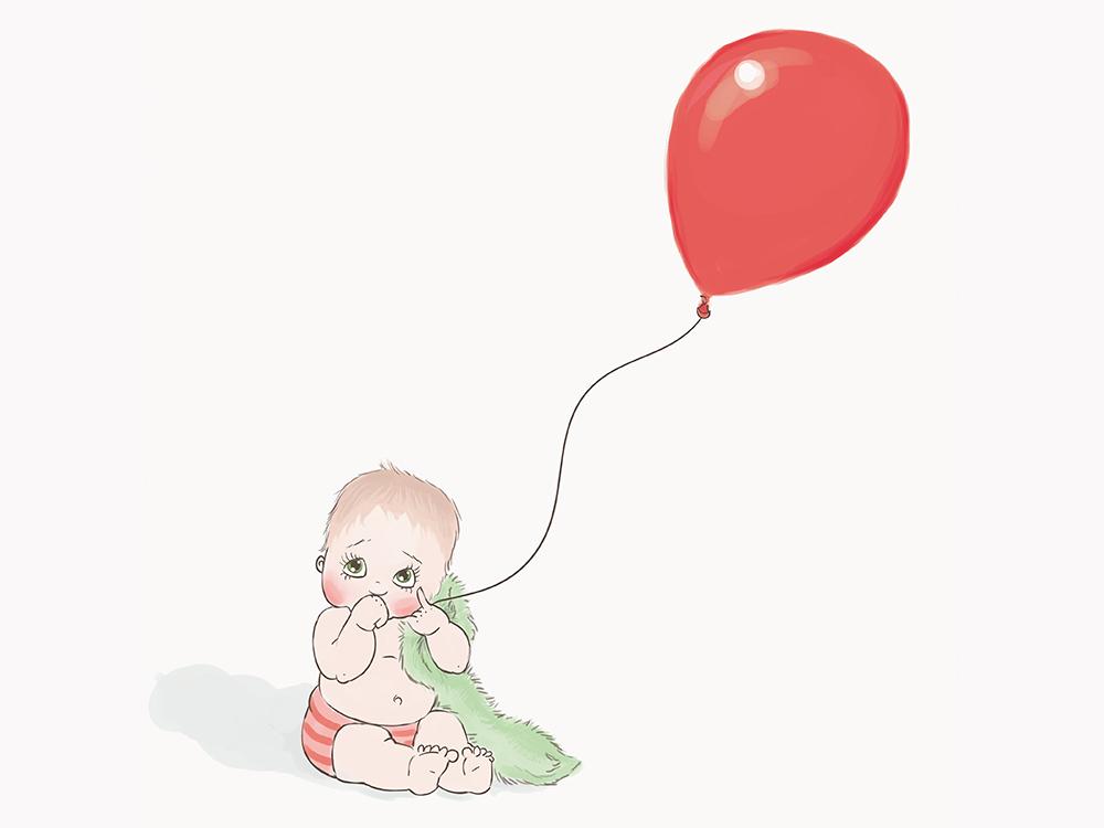 Willow Balloon Kat Merewether Illustration Art