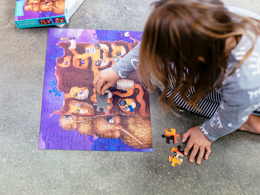 Kuwi the Kiwi Floor Puzzles Design Product